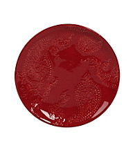 Gallery® Red Paisley Round Salad Plate