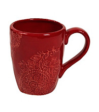 Gallery® Red Paisley Mug
