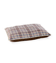 John Bartlett Pet Tan Tartan Plaid Pet Bed