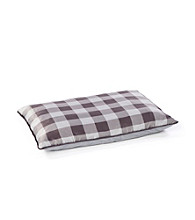 John Bartlett Pet Grey Buffalo Check Pet Bed