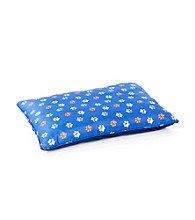 John Bartlett Pet Orange and Navy Paw Pet Print Bed