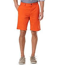 Perry Ellis® Men's Bright Coral Solid Cotton Short