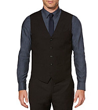 Perry Ellis® Men's Black Viscose Solid Color Vest