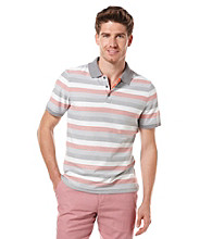 Perry Ellis® Men's Bright White Short Sleeve Plaited Striped Polo