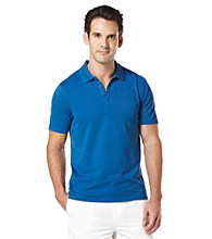 Perry Ellis® Men's Coastal Blue Short Sleeve Irridescent Polo