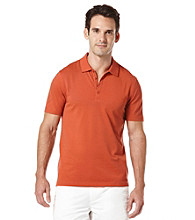 Perry Ellis® Men's Bright Coral Short Sleeve Irridescent Polo