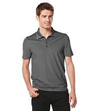 Perry Ellis® Men's Black Short Sleeve Irridescent Polo