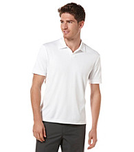 Perry Ellis® Men's Bright White Short Sleeve Open Collar Polo
