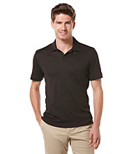 Perry Ellis® Men's Dark Brown Short Sleeve Open Collar Polo