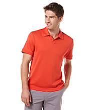Perry Ellis® Men's Rose Hip Short Sleeve Open Collar Polo