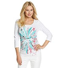 Laura Ashley® Exploded Floral Scoop Neck Tee