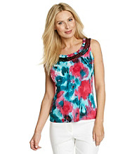 Laura Ashley® Water Garden Sequin Trim Tank