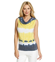 Laura Ashley® Tie Dye Drape Neck Tank