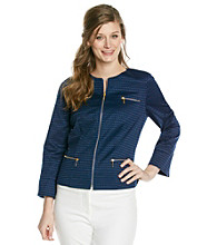 Laura Ashley® Navy Jacquard Jacket