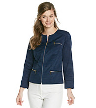 Laura Ashley® Petites' Navy Jacquard Jacket