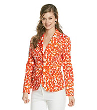 Laura Ashley® Watercolor Print Ruched Blazer
