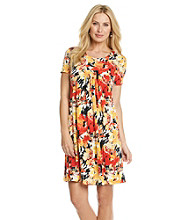 Laura Ashley® Brushed Garden T-Shirt Dress