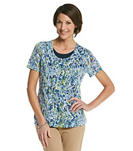 Breckenridge® Petites' Short Sleeve Two For Burn Out Tee
