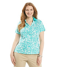 Studio Works® Plus Size Short Sleeve Printed Polo