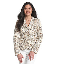 Studio Works® Petites' Print Four Pocket Floral Blazer