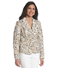 Studio Work® Floral Print Two Button Blazer