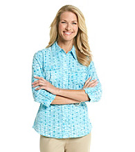 Studio Works® Woven Ocean Dots Shirt