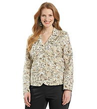 Studio Works® Plus Size Floral Button Front Blazer