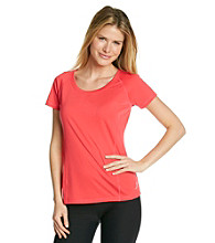 Exertek® Solid Short Sleeve Scoopneck Tee