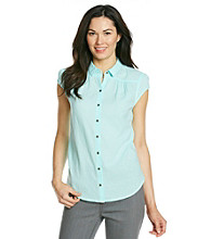 Ruff Hewn Short Sleeve Gauze Western Buttondown Shirt
