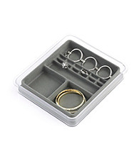 LivingQuarters 4 to 12 Section Grey Jewelry Tray