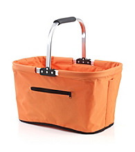 LivingQuarters Orange Shopping Basket