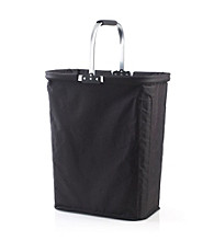 LivingQuarters Black Laundry Basket