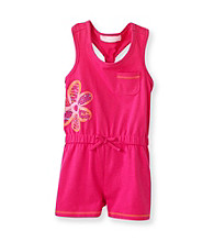 Kids Headquarters® Baby Girls' Bright Pink Flower Romper