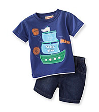 Kids Headquarters® Baby Boys' Navy 2-pc. Pirate Shorts Set