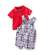Little Me® Baby Boys' Blue Baseball Shortall Set