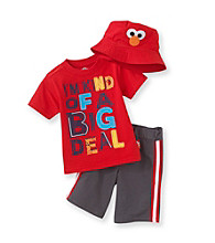 Nannette® Baby Boys' Red 3-pc. Elmo Shorts Set