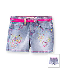Squeeze® Girls' 2T-6X Double Stone Neon Multi Icon Shorts