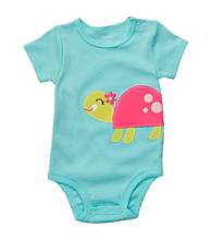 Carter's® Baby Girls' Turquoise Turtle Applique Bodysuit