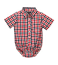 OshKosh B'Gosh® Baby Boys' Red/Navy Plaid Woven Bodysuit