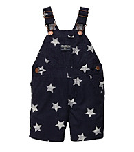 OshKosh B'Gosh® Baby Boys' Navy/White Star Print Shortall