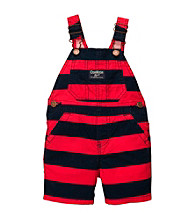 OshKosh B'Gosh® Baby Boys' Navy/Red Striped Shortall