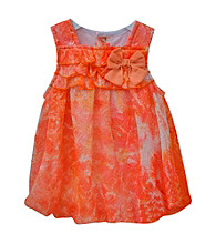 Baby Essentials® Baby Girls' Coral Floral Bubble Romper