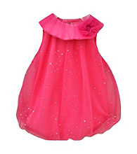 Baby Essentials® Baby Girls' Pink Sparkle Bubble Romper