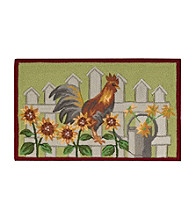 Nourison Rooster with Sunflowers Rug