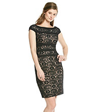 Adrianna Papell® Lace Sheath With Piping