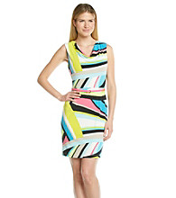 Calvin Klein Geo Print Sheath Dress