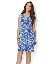 Lauren by Ralph Lauren® Knotted Chiffon Dot Dress