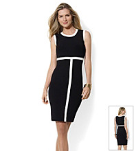 Lauren Ralph Lauren® Contrast Tipping Dress