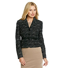 Anne Klein® Tweed Jacket With Belt