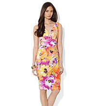 Lauren Ralph Lauren Gathered Empire Waist Dress